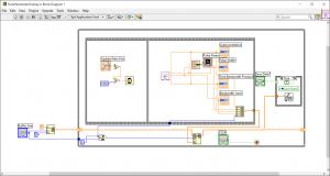LabView Pulse Parameter Display Block Diagram