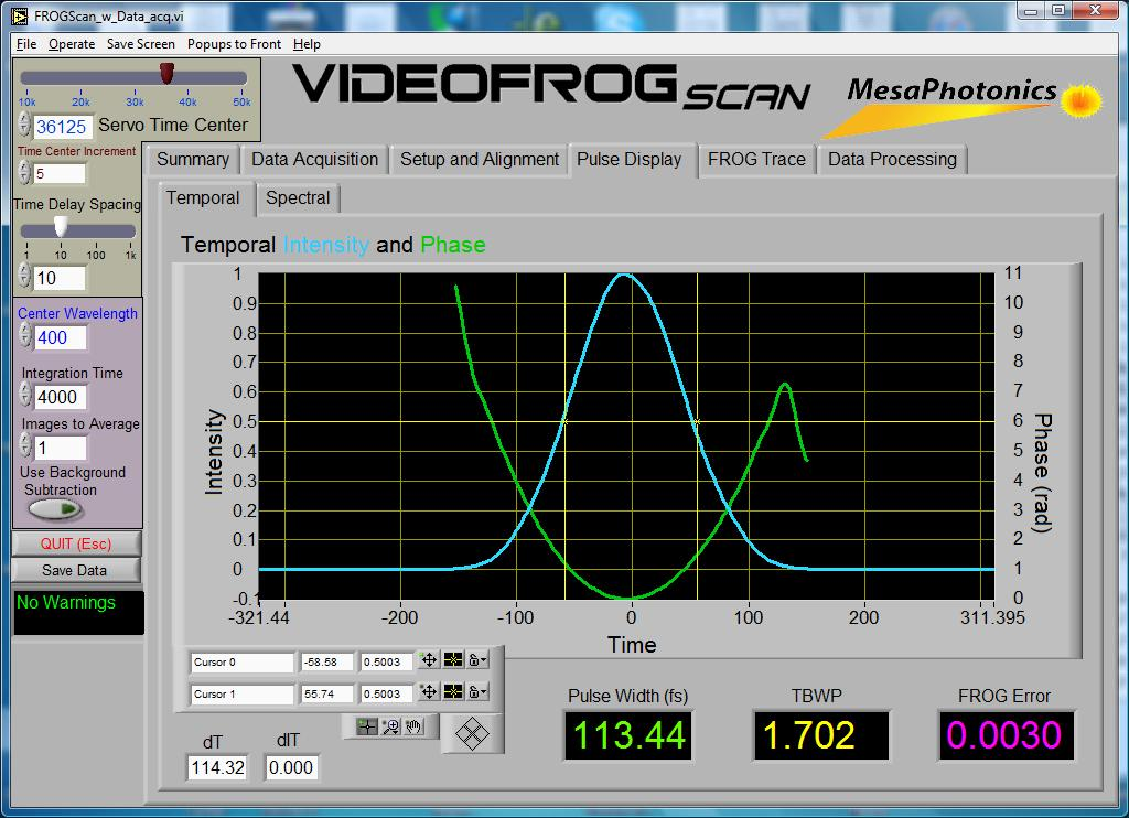 VideoFROGScanPulsePanel